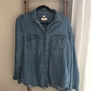 "Loft ""Softened"" Chambray Shirt"